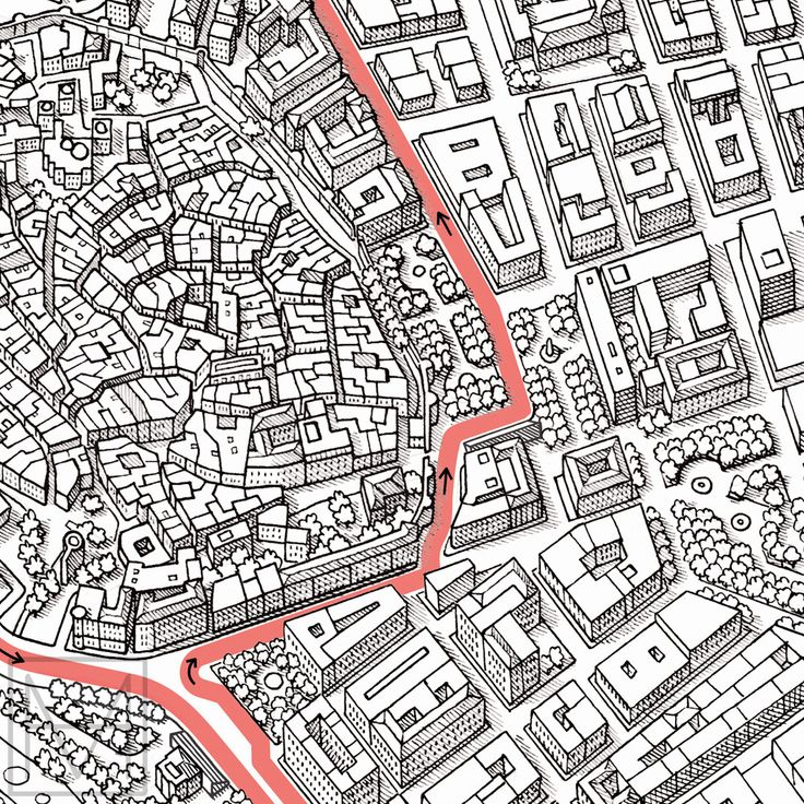 Compulsive Cartographer — thisismikehall: My drawing of an aerial view of...