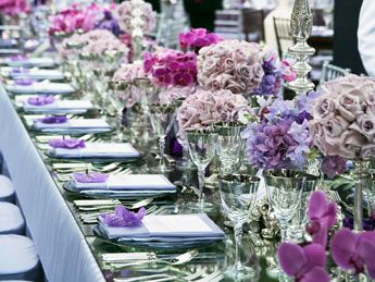 purple centerpieces: Purple Centerpiece, Table Decoration, Wedding Ideas, Wedding Thoughts, Centerpiece Reception Ideas, Future Wedding