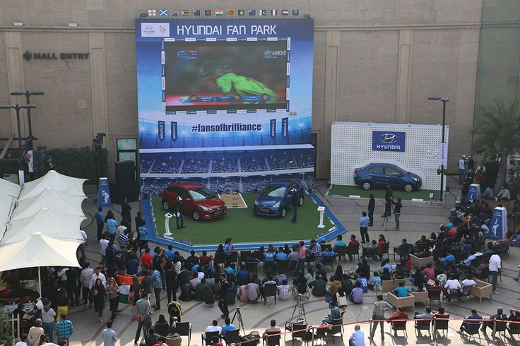 The Hyundai Fan Park at DLF Promenade Mall, New Delhi had a stunning atmosphere where excited cricket fans witnessed the live telecast of the India-Pakistan World Cup match.