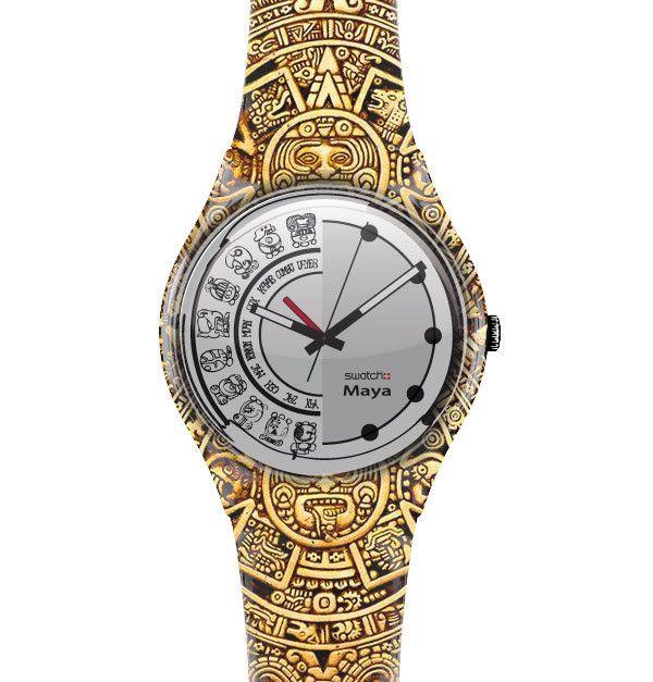 Swatch Maya by: Federico Poletti #prototype #clock #time #maya #finalworld #design #swatch