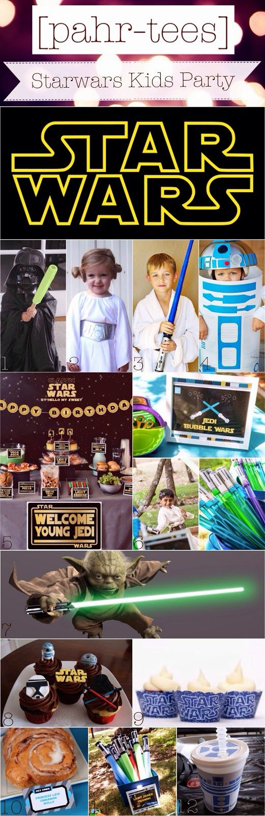 Moodboard StarWars Kids Party | pahr-tees.blogspot.com