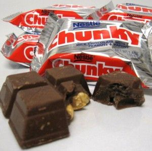 "Chunky bar ""Open Wide for Chunkyyy""..dad would always get one for himself and we would get sugar daddies."