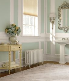A paint colour for every room. Kitchen - yellow. Bathroom - seafoam green. Master bedroom - silver. Living room - Butterscotch. Dining room - cranberry. Office - wedgewood blue. Laundry room - grass green. Basement - bone.