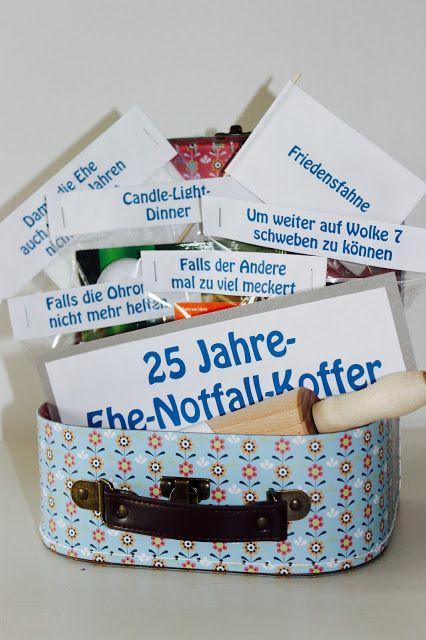 25-Jahre-Ehe-Notfall-Koffer | Geschenkideen silberhochzeit