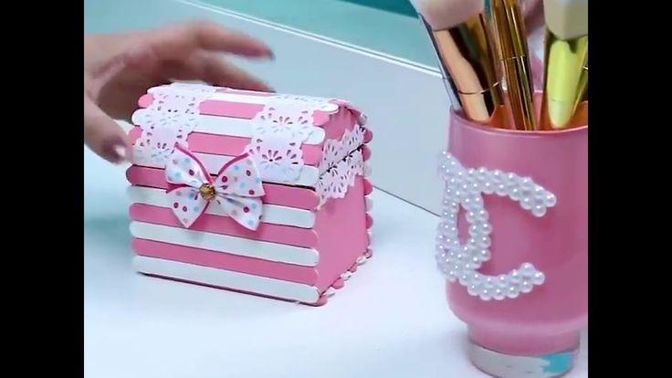 DIY - make up table decorations [Memanfaatkan barang-barang bekas]