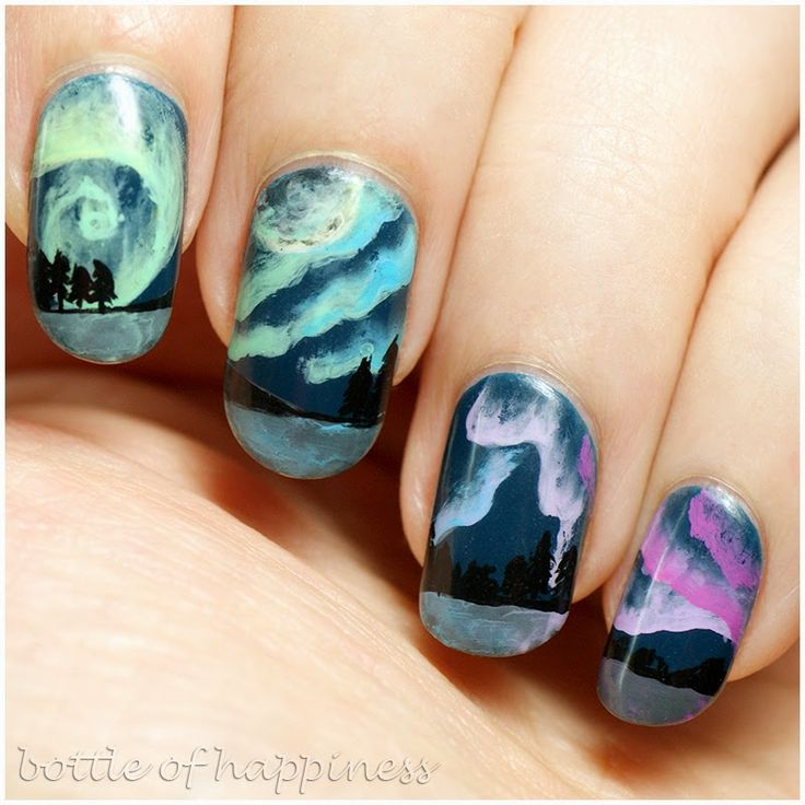 AllePaznokcie ~N.T.N.~ 100 + acrylic paint #nails #nailart
