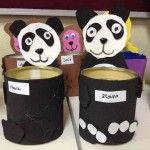 tin can panda craft for kid