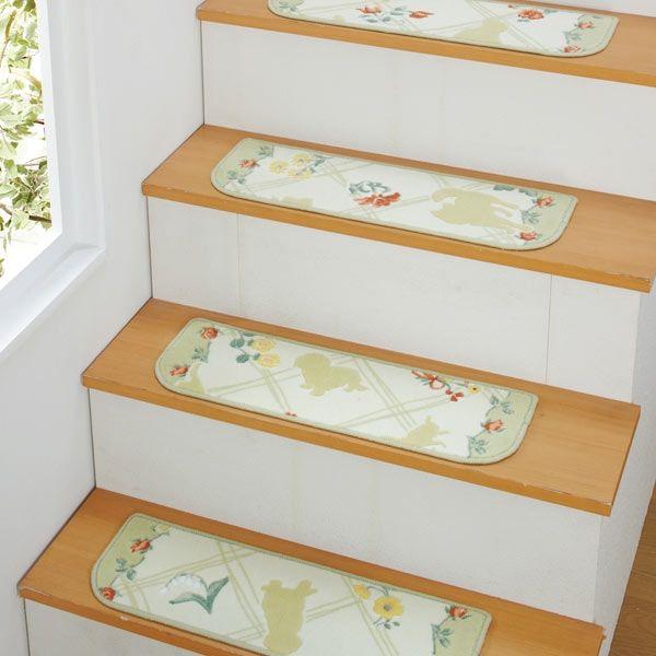 大型犬 階段滑り止めマット   ゴールデンの、りきまる情報館 フラワー&シルエット抗菌はっ水階段敷き (犬柄 階段マット) icon