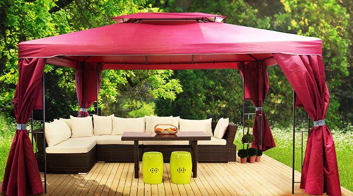 die besten 25 gartenpavillon metall ideen auf pinterest pergola metall einfache veranda. Black Bedroom Furniture Sets. Home Design Ideas