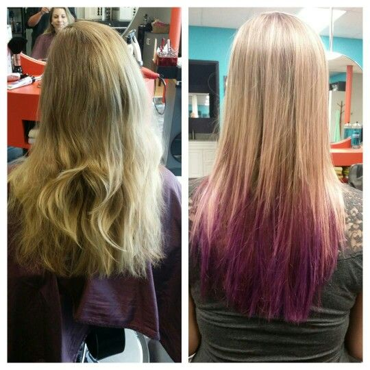 Ombre with  rose highlights