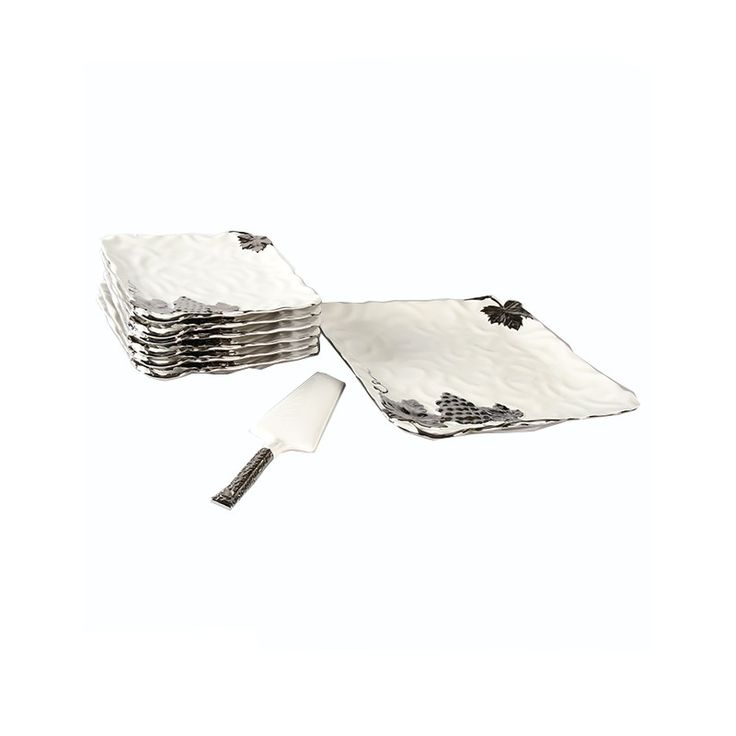 Cynopal Designer High Quality Opal Ware Serving Plates Set With Spoon (Set of 8) http://goo.gl/gb07VI