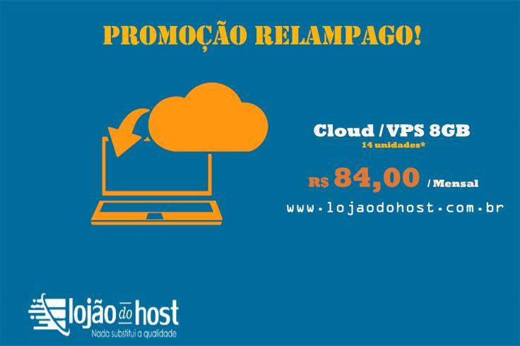 Promoção 20% de desconto, FIXO!  Cloud / VPS 8GB 2 vCore 150 GB HD 150Mb Uplink 1 IP Anti-DDoS Game  Por apenas R$84,00 por mês  Promoção ate o estoque acabar, APROVEITE!  14 unidades disponíveis *
