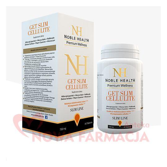 NOBLE HEALTH GET SLIM CELLULITE - redukcja celulitu, tabletki, 45 sztuk