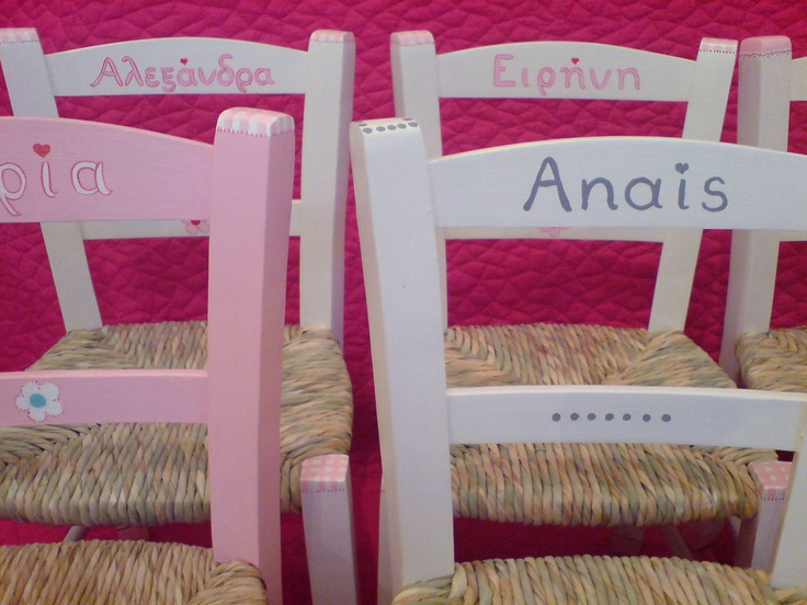 Chairs for kids / Hand-painted collection