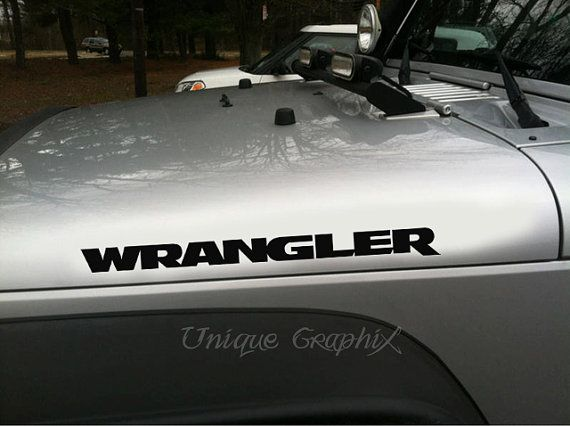 Jeep Wrangler Hood Vinyl Decal Sticker 1 Pair By