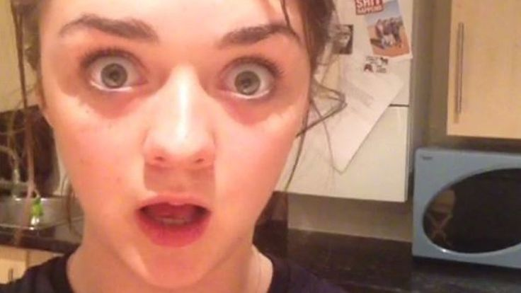 """Arya Stark's Game of Thrones """"Red Wedding"""" Reaction Video Is the Best"""