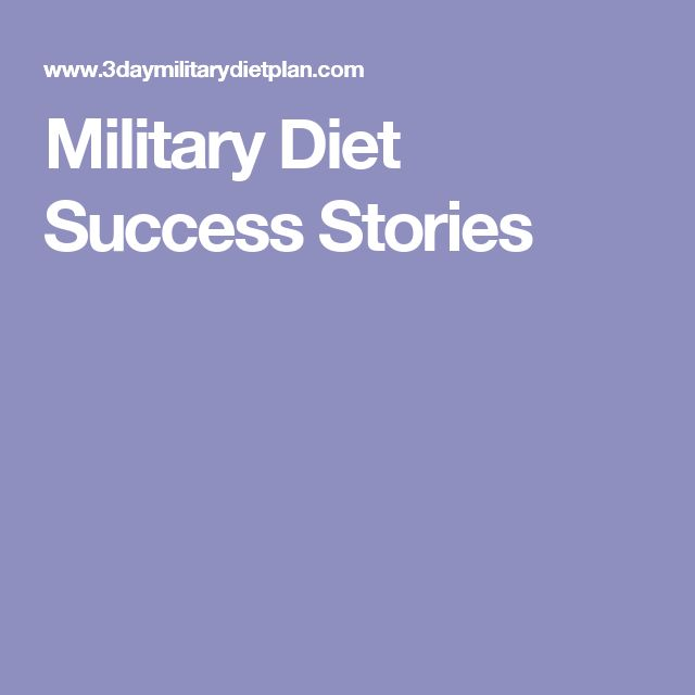 Military Diet Success Stories