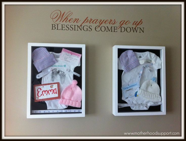 Display Baby Clothes Shadow Box When Prayers Go Up Blessings Come
