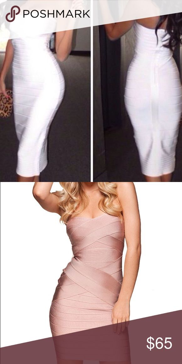 Bandage Bodycon Dress Light Pink Size Small Great party or night out dress Dresses Mini