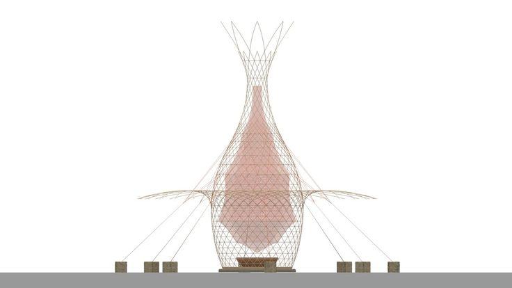 Galería de Proyecto WARKA: Torres de bambú que recogen agua potable del aire - 19