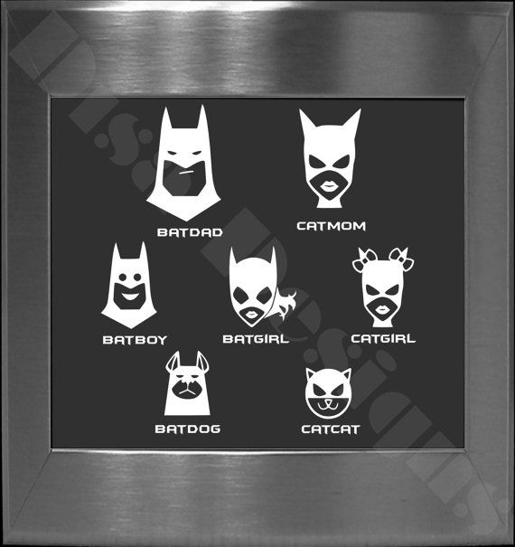 Your choice of 5 batman bat family decals please read description for ordering instructions car decal family decal