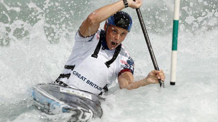 Britain's Joe Clarke strikes gold in K1 slalom canoeing