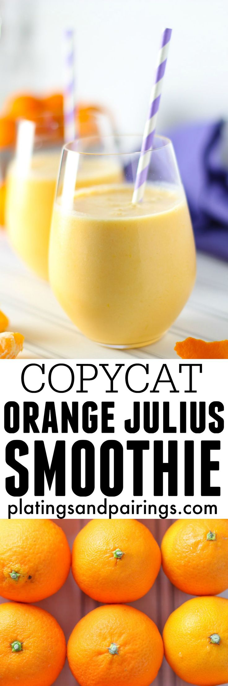 Clementine Smoothie {Orange Julius COPYCAT} | platingsandpairings.com