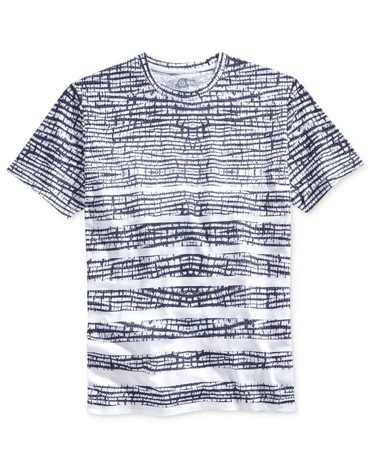American Rag Men's Shibori-Stripe T-Shirt, Only at Macy's