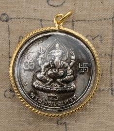 Ganesh-Ermite Lersi-amulette de Thaïlande-Talisman Thaï-avec etui