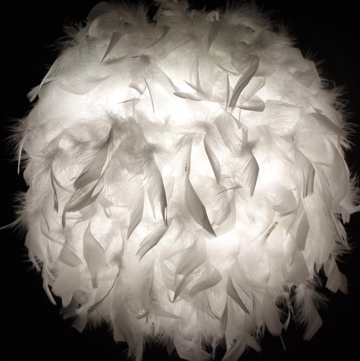 """White  Feather """"Foldable"""" Lantern"""
