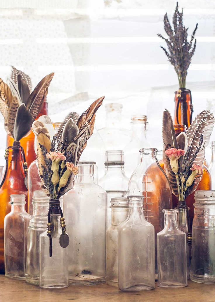 Antique Glass Bottles - Small by SoulMakes.com    can't wait to get paid again!!!