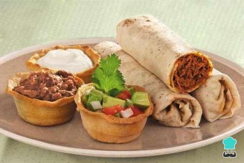Receta de Burritos de carne molida estilo Tijuana