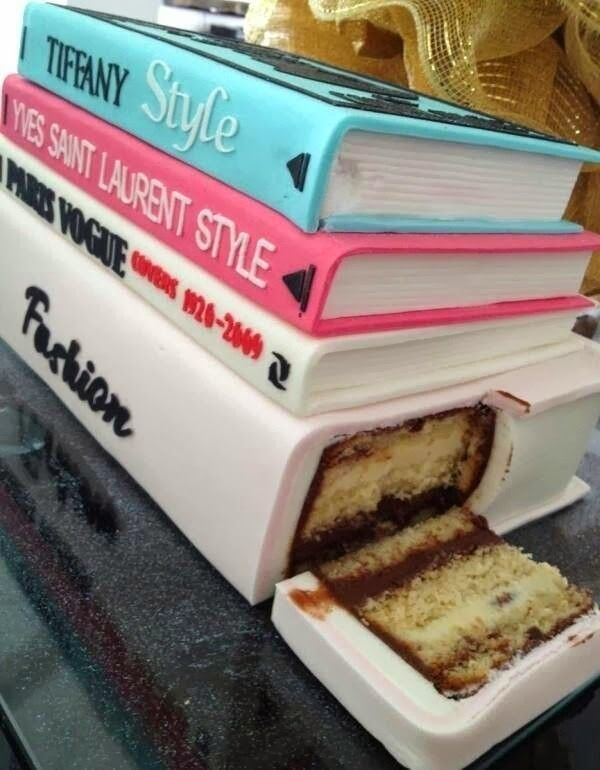 I would love a book cake for my birthday