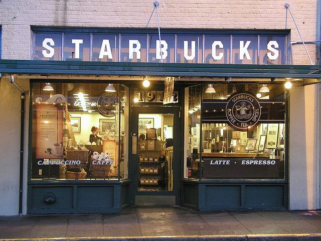 Original Starbucks at Pikes Place Market - Seattle, WA. when I'm in Seattle in a month I'm going to try to find this!
