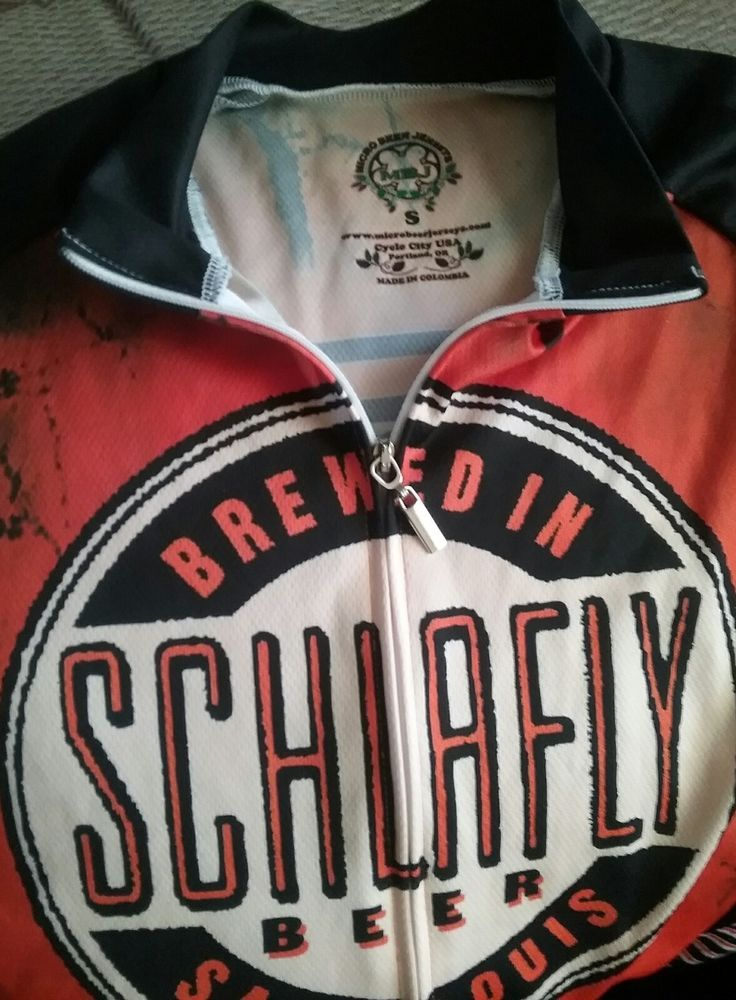CYCLING JERSEY SCHLAFLY BEER ST. LOUIS ORANGE | Sporting Goods, Cycling, Cycling Clothing | eBay!