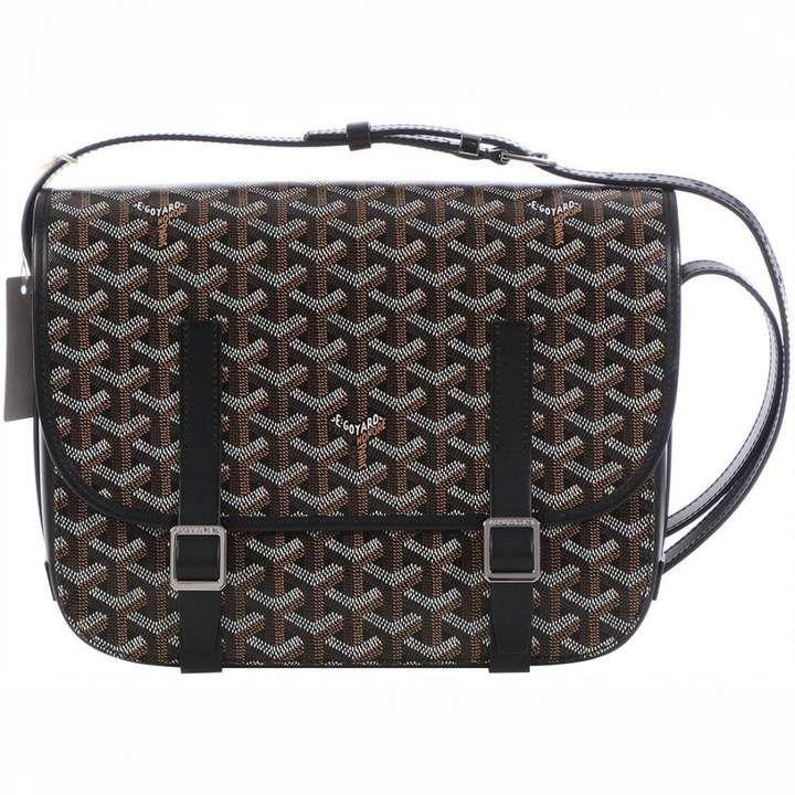 Goyard Belvedere Black Cloth Handbag Handbag Outfit Goyard Messenger Bag Leather