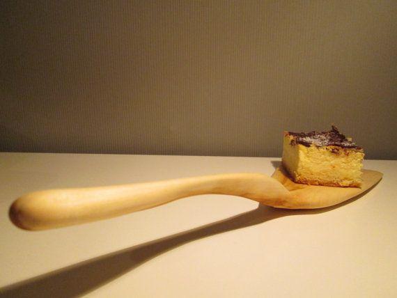 Unique wooden cake server cupcake spoon spatula kitchen by halfron