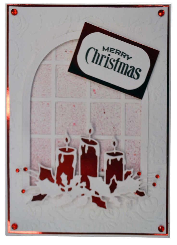 Red Candle Christmas Card