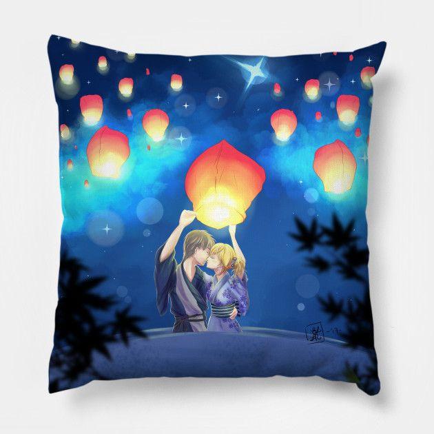 Akari you can find this pillow on teepublic, is on sale for only 21$ for 3 days! #akari #light #anime #manga #love #pillow #cuscino #work #art #arte #otaku #lovers #blue #sale #onsale #teepublic
