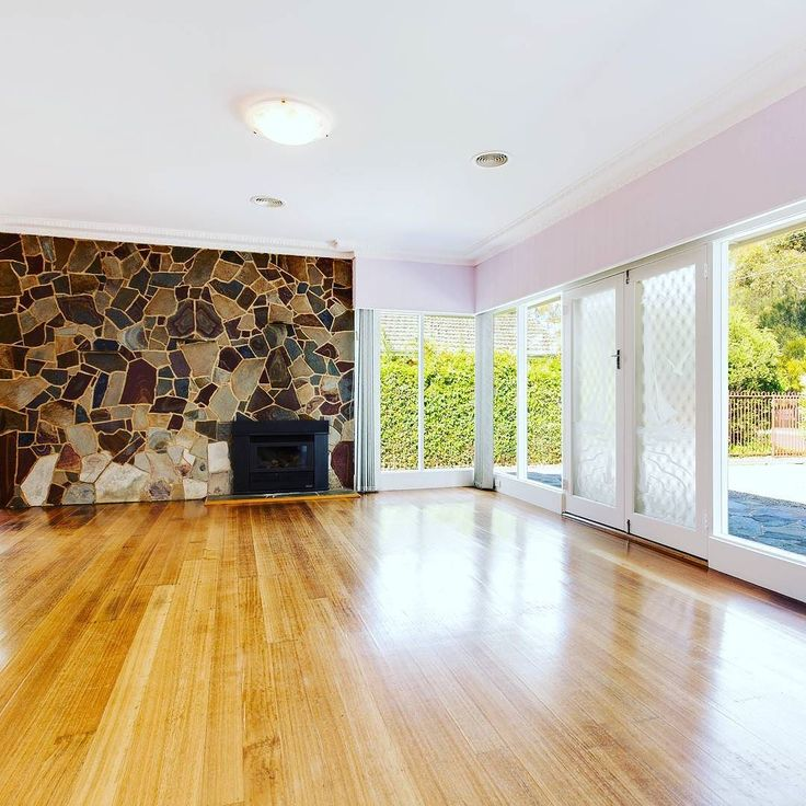 WATCH THIS SPACE! Dreaming about the amazing possibilities with this divine retro room! Soon to be listed - Princes Highway Werribee  Credit to @snapmediagroup for the pic #localhomestaging #homestaging #stone #stonemason #featurewall #etchedglass #frenchdoors #retro #vintage #fireplace #makeover #interior #interiordecorating #realestatephotography #realestate