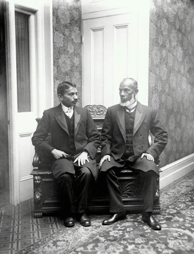 Mahatma Gandhi ( left ) in south Africa in 1900s