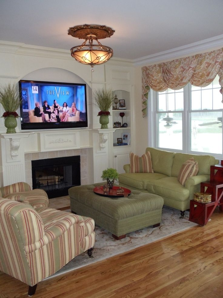 17 best images about furniture arrangement on pinterest for Family room furniture layout tv fireplace