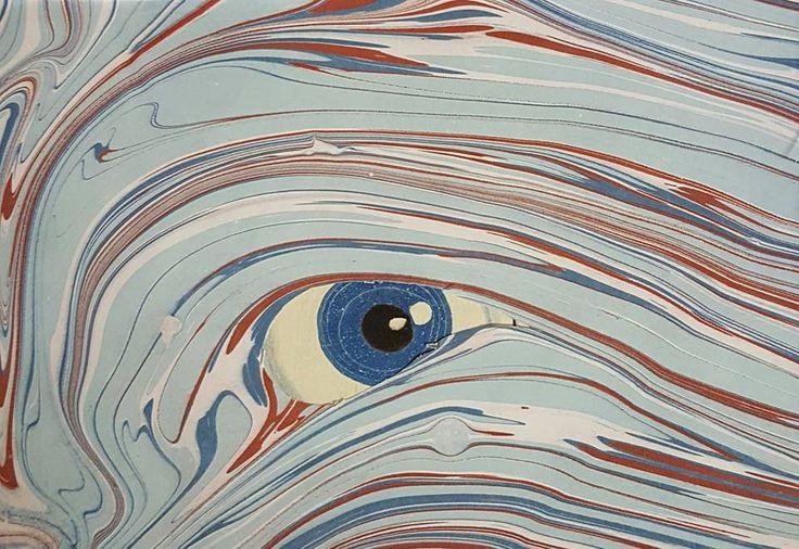 Ebru / marbled paper by Zaynep Uysal Kog, Atelier de Papier Marbre