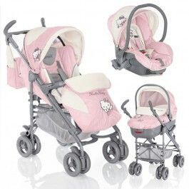 cute hello kitty stroller car seat set
