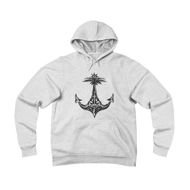 """Kurt Ziegler """"Mermaids & Anchor"""" Unisex Sponge Fleece Pullover Hoodie"""