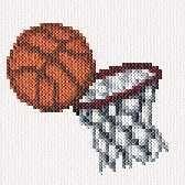 Basketball cross stitch pattern.