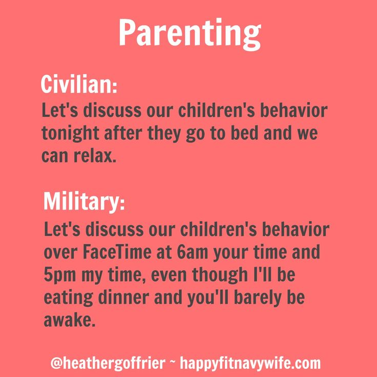 Military vs civilian parenting. LOL