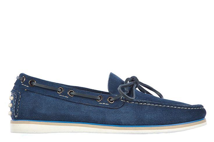 Car Shoe mocassini uomo in camoscio nuovo astoro KUD681 F32 F0021 blu 1