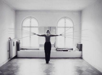 Rebecca Horn, Scratching Both Walls at Once, 1974-1975. https://uk.pinterest.com/juancarlosconto/rebecca-horn/