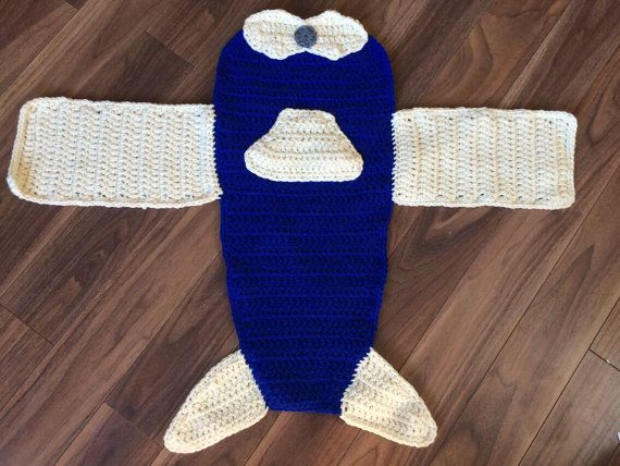 Blue Airplane Blanket Ready to Ship Photography Prop Baby